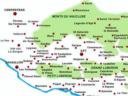 Carte Des Villes Et Village Des Alpilles